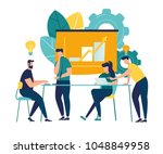 vector illustration. training... | Shutterstock .eps vector #1048849958