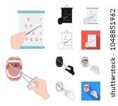 manipulation by hands cartoon... | Shutterstock .eps vector #1048851962
