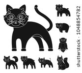 toy animals black icons in set... | Shutterstock .eps vector #1048854782