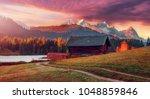 Impressive Sunset At Alps....
