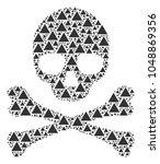 skull pattern organized of...   Shutterstock .eps vector #1048869356