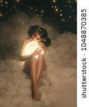 an attractive  naked goddess... | Shutterstock . vector #1048870385