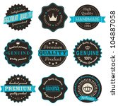 a set of nine vintage labels... | Shutterstock .eps vector #104887058