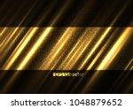 shining light golden surface... | Shutterstock .eps vector #1048879652