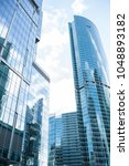 detail blue glass modern office ...   Shutterstock . vector #1048893182