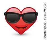 sunglasses heart expression...   Shutterstock .eps vector #1048895012