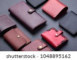 set of hand made leather man... | Shutterstock . vector #1048895162