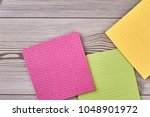 multicolored kitchen cleaning... | Shutterstock . vector #1048901972