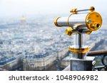 monocular telescope.eiffel... | Shutterstock . vector #1048906982