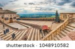 assisi  italy   january 14 ... | Shutterstock . vector #1048910582