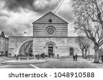 assisi  italy   january 14 ... | Shutterstock . vector #1048910588