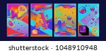 abstract liquid and geometric...   Shutterstock .eps vector #1048910948