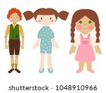 dolls toy character game dress...   Shutterstock .eps vector #1048910966