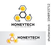honey tech logo template design ... | Shutterstock .eps vector #1048915712