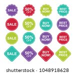 big set or collection of... | Shutterstock .eps vector #1048918628