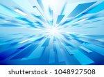 abstract blue rectangles light... | Shutterstock .eps vector #1048927508