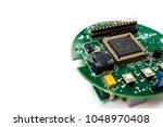 closeup of electronic circuit...   Shutterstock . vector #1048970408