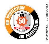 uv protection spf 50   button ...   Shutterstock . vector #1048970465