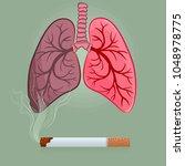 dangers of smoking  nicotine...   Shutterstock .eps vector #1048978775