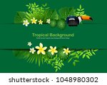 bright tropical background with ... | Shutterstock .eps vector #1048980302
