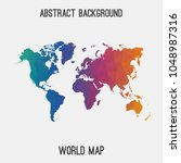 world international map in... | Shutterstock .eps vector #1048987316
