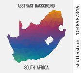 south africa map in geometric... | Shutterstock .eps vector #1048987346