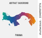 panama map in geometric... | Shutterstock .eps vector #1048987376