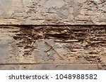 Small photo of Wooden floor is part of the wooden house. Was termite eat until decay Dry out