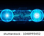 abstract brain technological  ... | Shutterstock .eps vector #1048995452