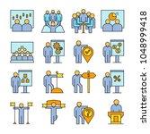 organization and management...   Shutterstock .eps vector #1048999418