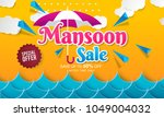 vector illustration sale banner ... | Shutterstock .eps vector #1049004032