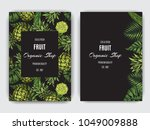 card  for eco store with a... | Shutterstock .eps vector #1049009888