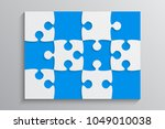 puzzle background  banner ... | Shutterstock .eps vector #1049010038
