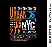 urban new york typography t... | Shutterstock .eps vector #1049013662