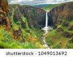 maletsunyane falls in lesotho...   Shutterstock . vector #1049013692