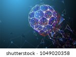 low poly abstract trinagles and ... | Shutterstock .eps vector #1049020358
