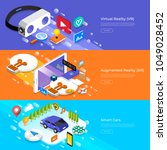 flat design concept virtual... | Shutterstock .eps vector #1049028452