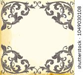 retro baroque decorations...   Shutterstock .eps vector #1049030108