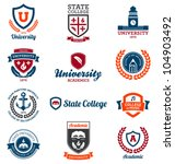 set of university and college... | Shutterstock .eps vector #104903492