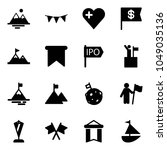 solid vector icon set  ... | Shutterstock .eps vector #1049035136