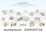 logistics concept vector... | Shutterstock .eps vector #1049035718