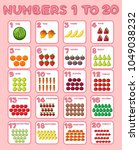 math poster design for numbers... | Shutterstock .eps vector #1049038232
