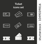 ticket vector icon. white...   Shutterstock .eps vector #1049039816