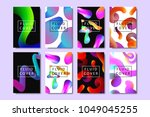 vector set of realistic... | Shutterstock .eps vector #1049045255