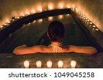 spa luxury jacuzzi woman... | Shutterstock . vector #1049045258