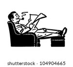 man relaxing in easy chair  ... | Shutterstock .eps vector #104904665