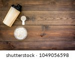 protein powder for fitness...   Shutterstock . vector #1049056598