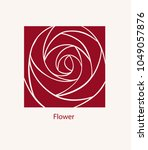 rose label abstract design.... | Shutterstock .eps vector #1049057876