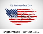 vintage usa flag with us... | Shutterstock .eps vector #1049058812