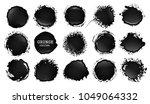 vector blot of ink or oil.... | Shutterstock .eps vector #1049064332